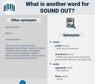 sound out, synonym sound out, another word for sound out, words like sound out, thesaurus sound out