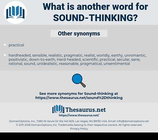 sound-thinking, synonym sound-thinking, another word for sound-thinking, words like sound-thinking, thesaurus sound-thinking