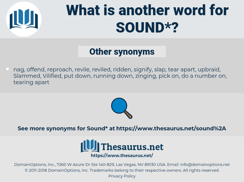 sound, synonym sound, another word for sound, words like sound, thesaurus sound