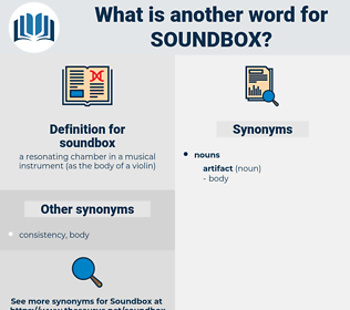 soundbox, synonym soundbox, another word for soundbox, words like soundbox, thesaurus soundbox