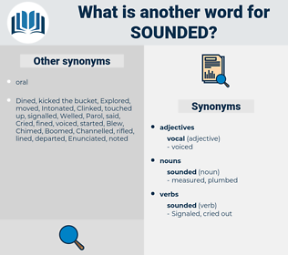 sounded, synonym sounded, another word for sounded, words like sounded, thesaurus sounded