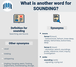 sounding, synonym sounding, another word for sounding, words like sounding, thesaurus sounding