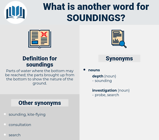 soundings, synonym soundings, another word for soundings, words like soundings, thesaurus soundings