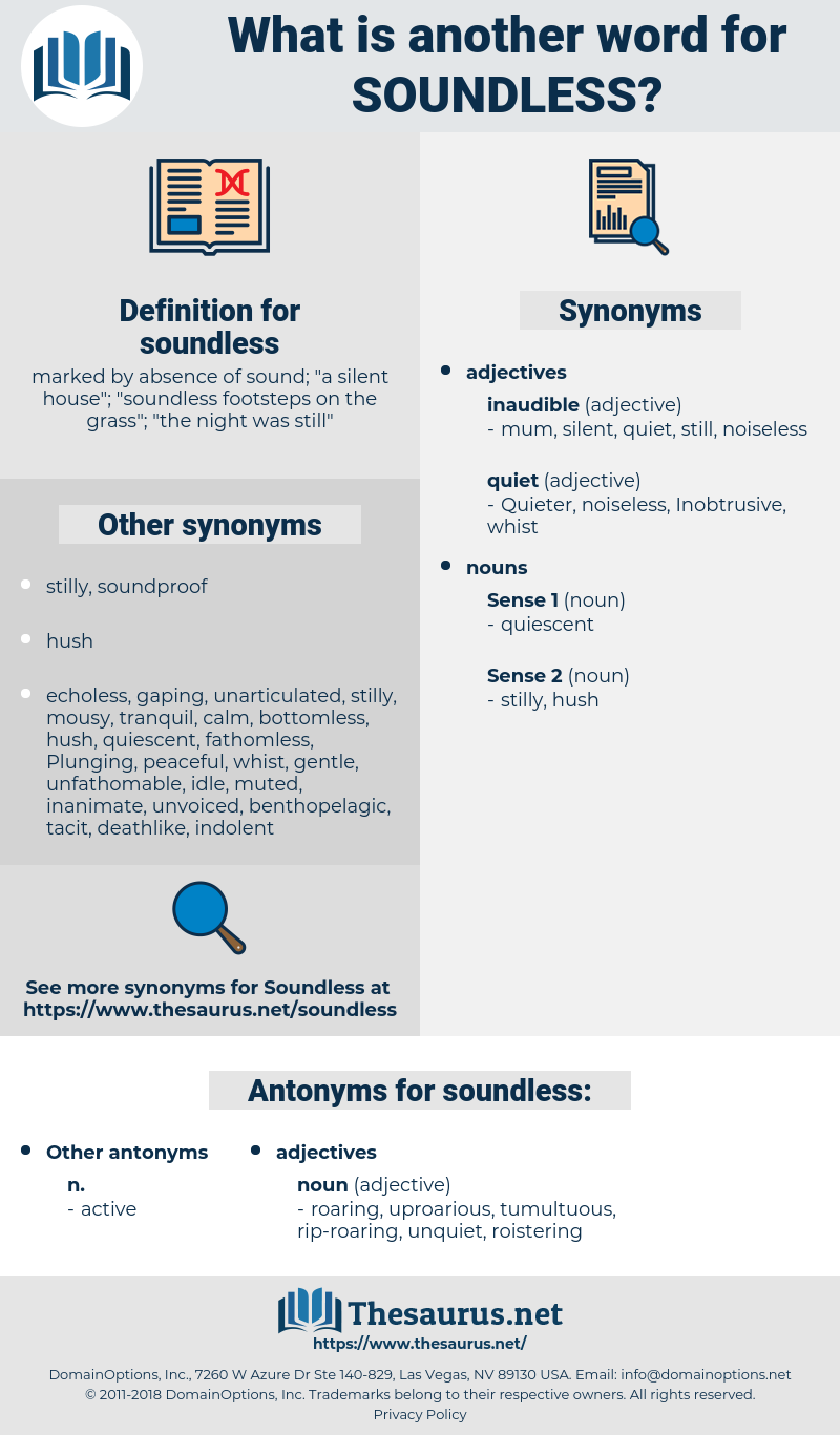 soundless, synonym soundless, another word for soundless, words like soundless, thesaurus soundless