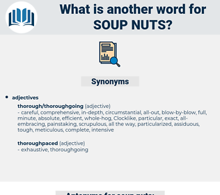 soup nuts, synonym soup nuts, another word for soup nuts, words like soup nuts, thesaurus soup nuts