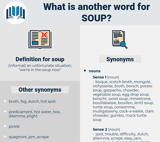 soup, synonym soup, another word for soup, words like soup, thesaurus soup