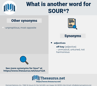 sour, synonym sour, another word for sour, words like sour, thesaurus sour