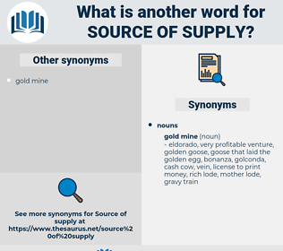 source of supply, synonym source of supply, another word for source of supply, words like source of supply, thesaurus source of supply