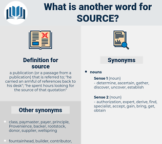 source, synonym source, another word for source, words like source, thesaurus source