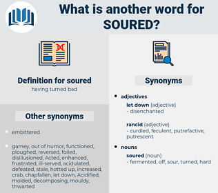 soured, synonym soured, another word for soured, words like soured, thesaurus soured