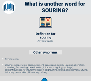 souring, synonym souring, another word for souring, words like souring, thesaurus souring