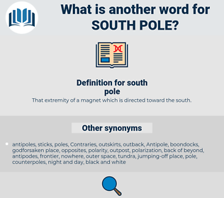 south pole, synonym south pole, another word for south pole, words like south pole, thesaurus south pole
