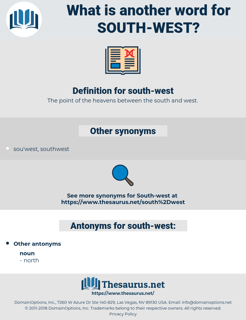 south-west, synonym south-west, another word for south-west, words like south-west, thesaurus south-west