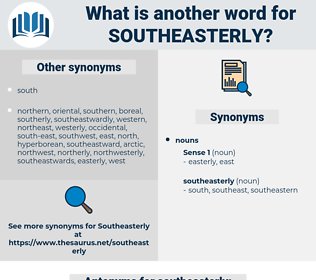 southeasterly, synonym southeasterly, another word for southeasterly, words like southeasterly, thesaurus southeasterly