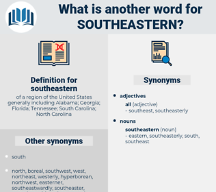 southeastern, synonym southeastern, another word for southeastern, words like southeastern, thesaurus southeastern