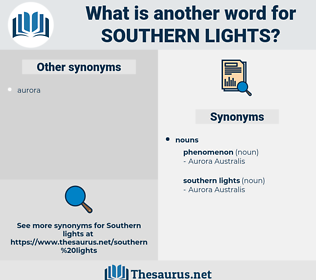 southern lights, synonym southern lights, another word for southern lights, words like southern lights, thesaurus southern lights