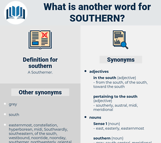 southern, synonym southern, another word for southern, words like southern, thesaurus southern