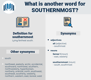 southernmost, synonym southernmost, another word for southernmost, words like southernmost, thesaurus southernmost