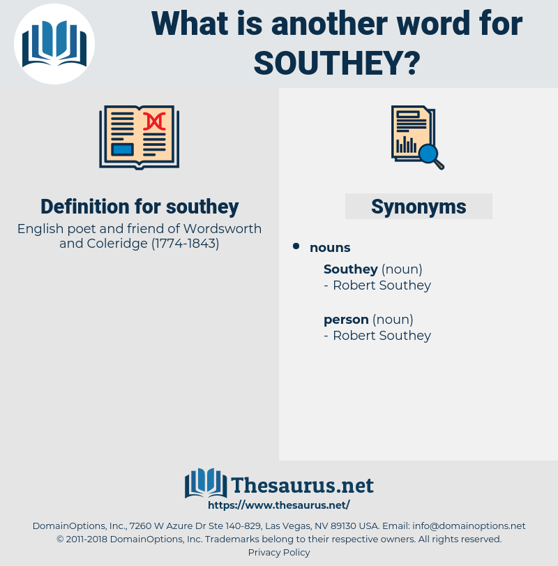 southey, synonym southey, another word for southey, words like southey, thesaurus southey