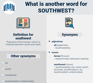 southwest, synonym southwest, another word for southwest, words like southwest, thesaurus southwest