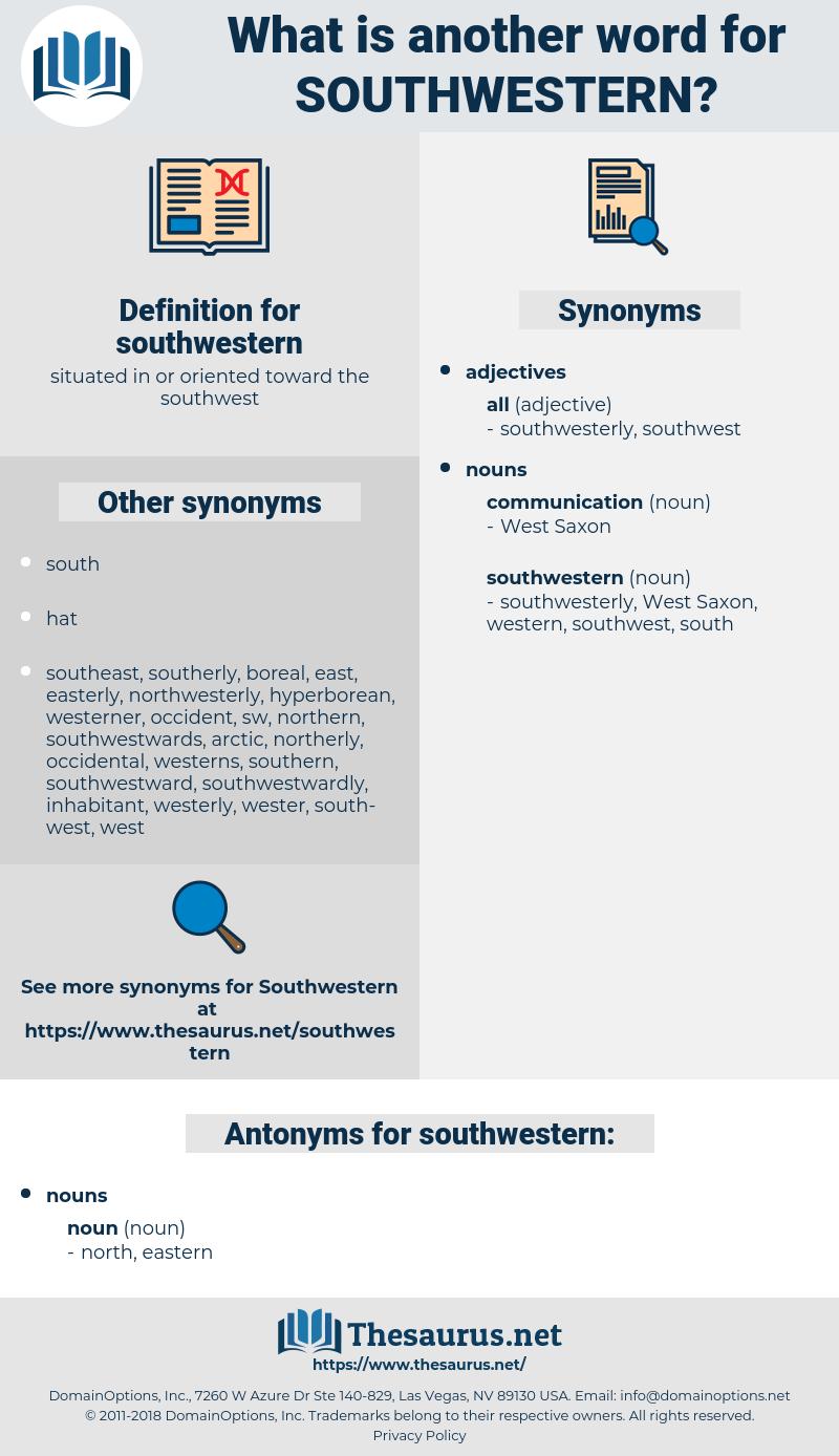 southwestern, synonym southwestern, another word for southwestern, words like southwestern, thesaurus southwestern