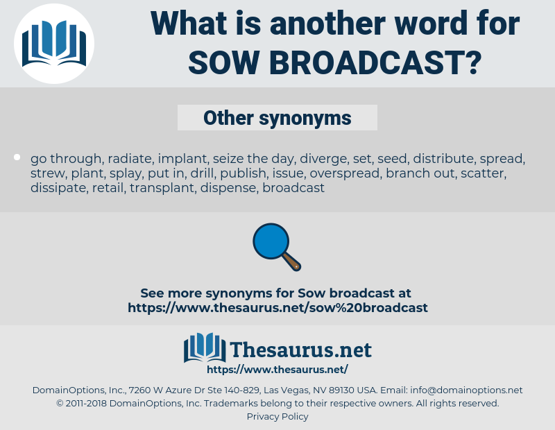 sow broadcast, synonym sow broadcast, another word for sow broadcast, words like sow broadcast, thesaurus sow broadcast