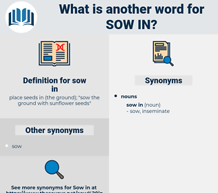 sow in, synonym sow in, another word for sow in, words like sow in, thesaurus sow in