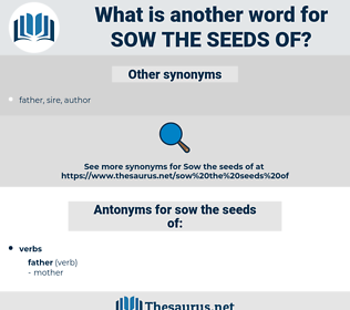 sow the seeds of, synonym sow the seeds of, another word for sow the seeds of, words like sow the seeds of, thesaurus sow the seeds of