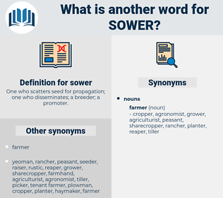 sower, synonym sower, another word for sower, words like sower, thesaurus sower