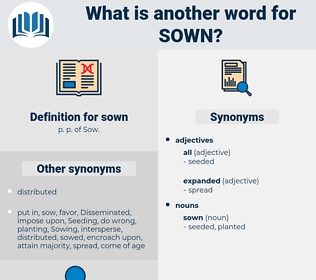 sown, synonym sown, another word for sown, words like sown, thesaurus sown