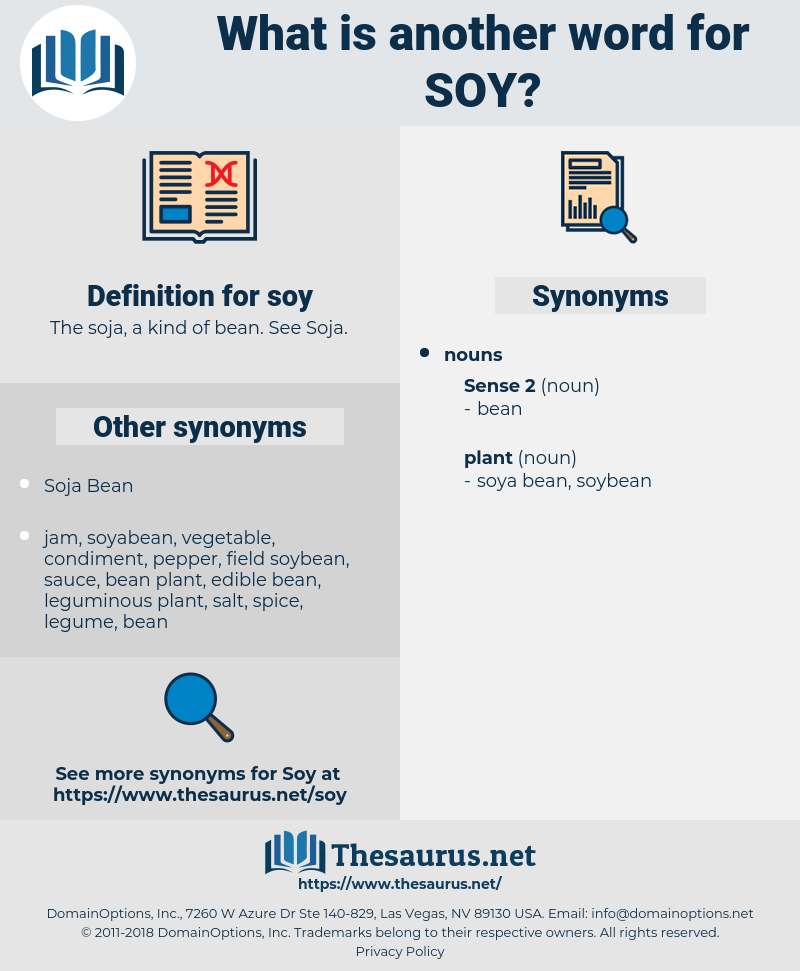 soy, synonym soy, another word for soy, words like soy, thesaurus soy