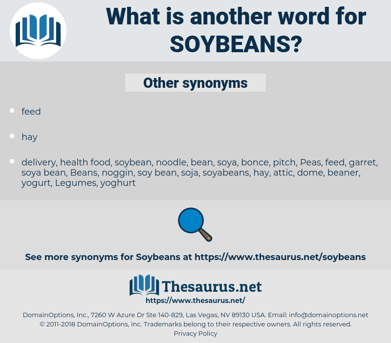 Soybeans, synonym Soybeans, another word for Soybeans, words like Soybeans, thesaurus Soybeans