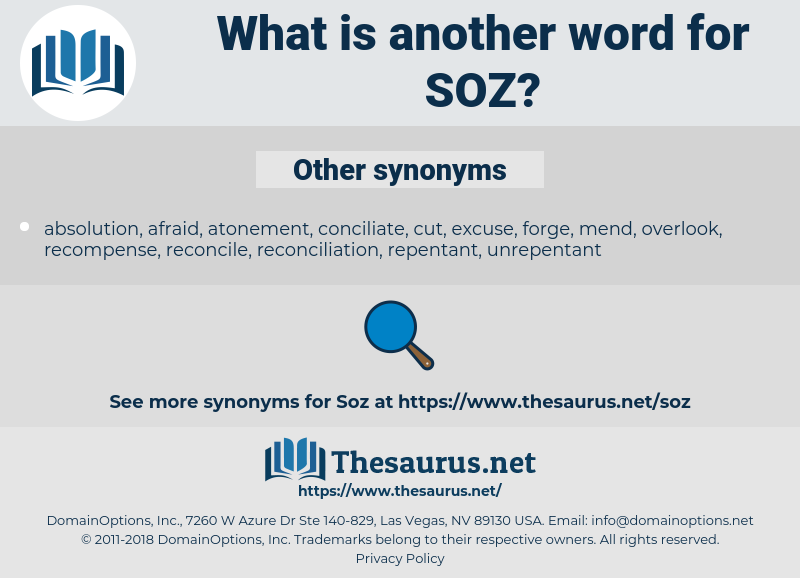 SOZ, synonym SOZ, another word for SOZ, words like SOZ, thesaurus SOZ