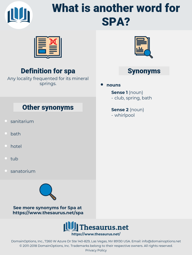 spa, synonym spa, another word for spa, words like spa, thesaurus spa
