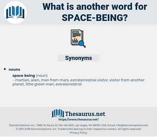 space being, synonym space being, another word for space being, words like space being, thesaurus space being