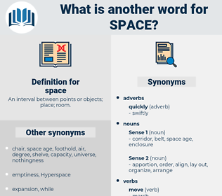 space, synonym space, another word for space, words like space, thesaurus space