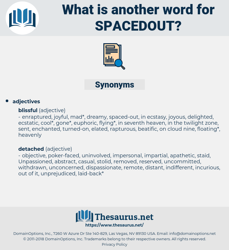 spacedout, synonym spacedout, another word for spacedout, words like spacedout, thesaurus spacedout