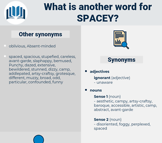 spacey, synonym spacey, another word for spacey, words like spacey, thesaurus spacey