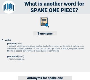 spake one piece, synonym spake one piece, another word for spake one piece, words like spake one piece, thesaurus spake one piece