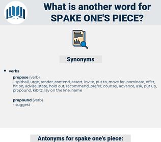 spake one's piece, synonym spake one's piece, another word for spake one's piece, words like spake one's piece, thesaurus spake one's piece