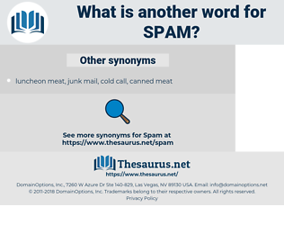 spam, synonym spam, another word for spam, words like spam, thesaurus spam