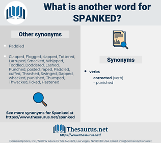 Spanked, synonym Spanked, another word for Spanked, words like Spanked, thesaurus Spanked