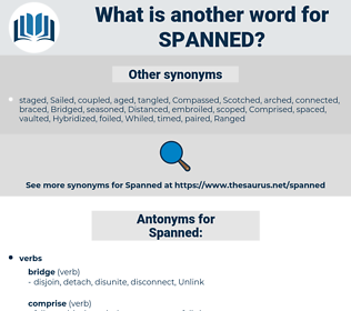 Spanned, synonym Spanned, another word for Spanned, words like Spanned, thesaurus Spanned