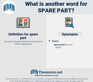 spare part, synonym spare part, another word for spare part, words like spare part, thesaurus spare part