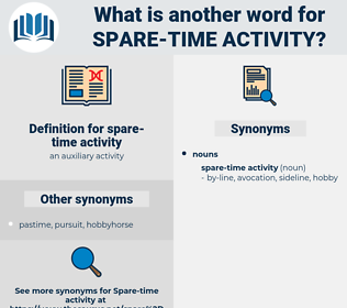 spare-time activity, synonym spare-time activity, another word for spare-time activity, words like spare-time activity, thesaurus spare-time activity