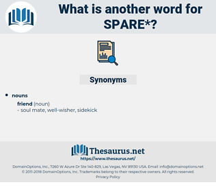 spare, synonym spare, another word for spare, words like spare, thesaurus spare