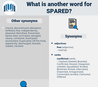 Spared, synonym Spared, another word for Spared, words like Spared, thesaurus Spared