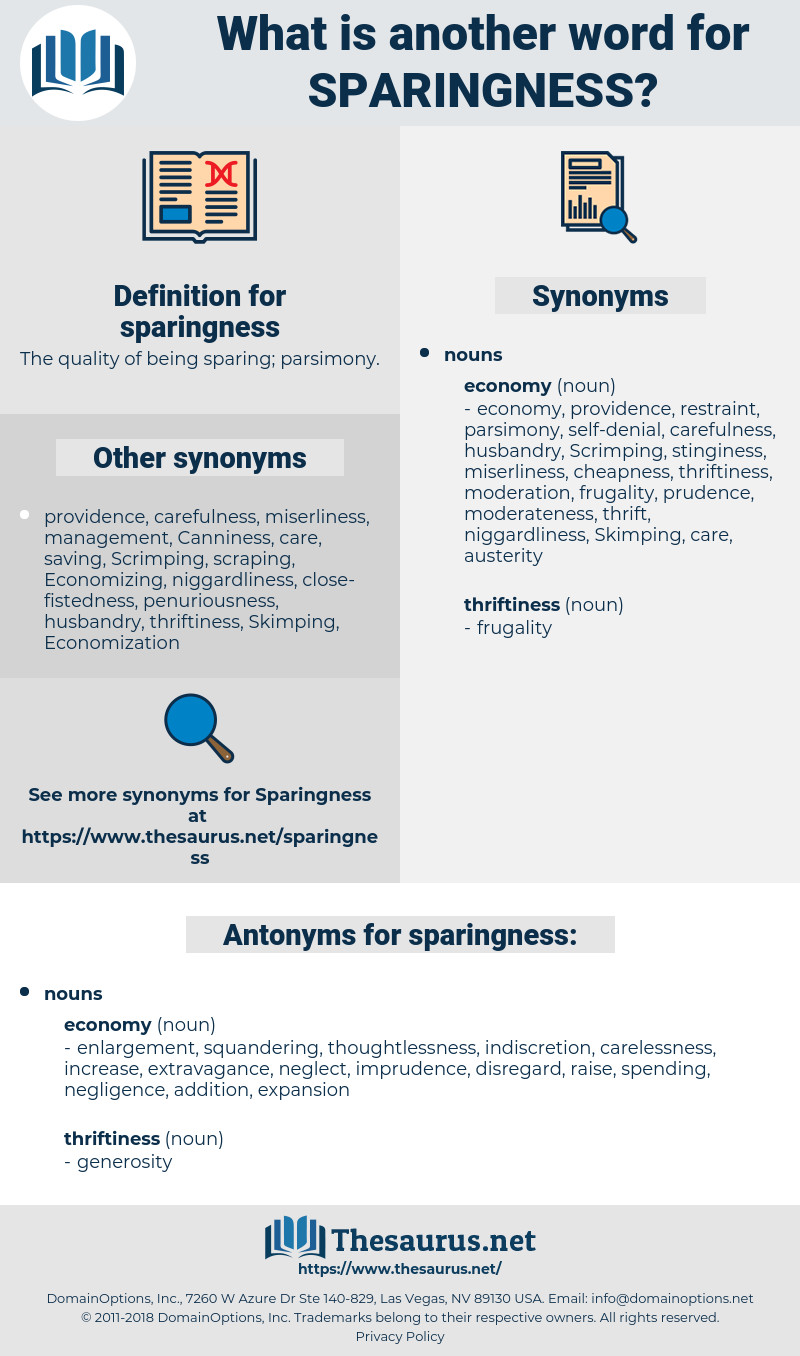 sparingness, synonym sparingness, another word for sparingness, words like sparingness, thesaurus sparingness