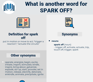 spark off, synonym spark off, another word for spark off, words like spark off, thesaurus spark off