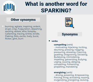 sparking, synonym sparking, another word for sparking, words like sparking, thesaurus sparking